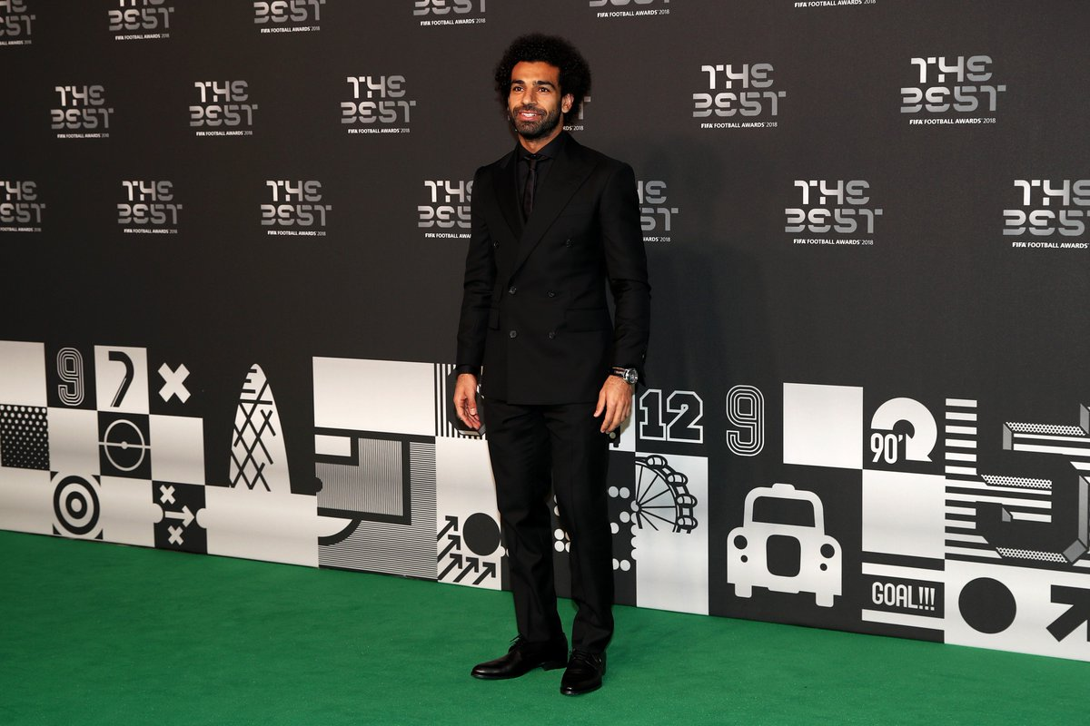 📸😎  @MoSalah arrives @ #TheBest #FIFAFootballAwards