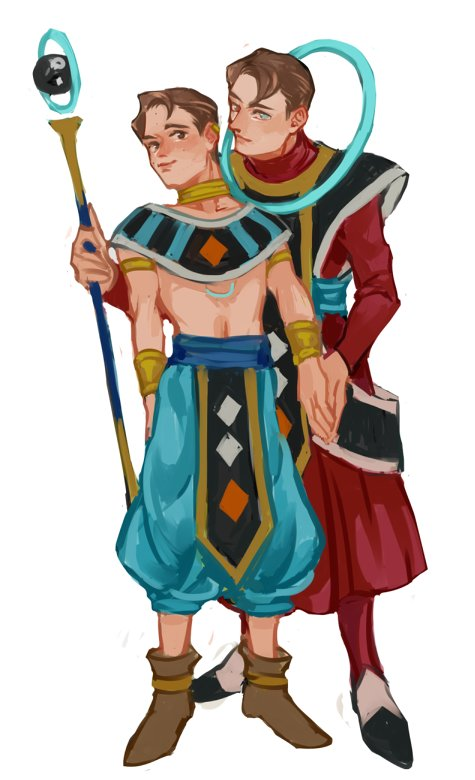 god of destruction (deviant hunter) and his mentor. my DBZ/S soul is finally appeased <br>http://pic.twitter.com/2Is3Mh7lIs