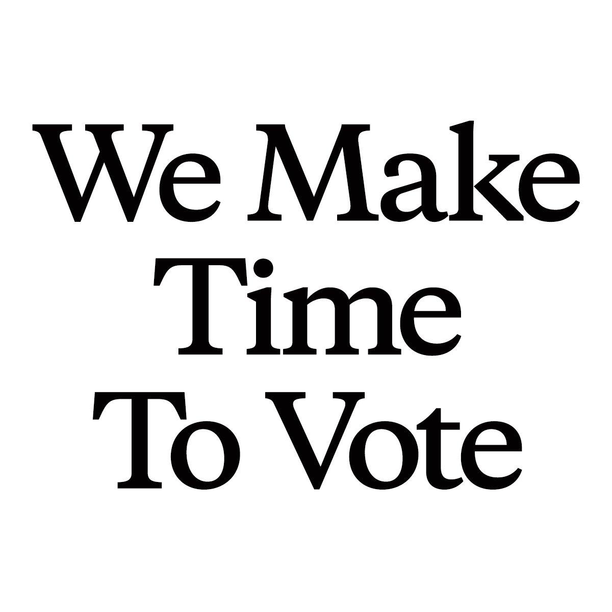 Here's the full list of businesses making #TimeToVote: https://t.co/9QsVsjUBkt  Join us.