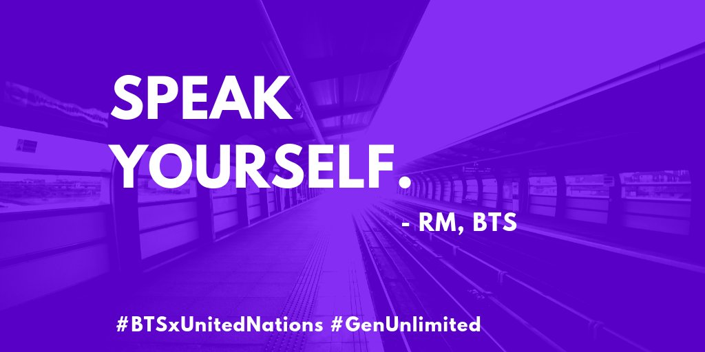 Unicef Nigeria On Twitter No Matter Who You Are Where You Are From Your Skin Colour Gender Identity Speak Yourself Thank You For Those Inspiring Words Bts Twt Genunlimited Youth2030 Unga Btsxunitednations