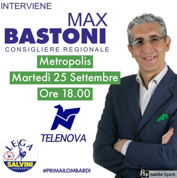 "MARTEDÌ 25 SETTEMBRE   ore 18,00   ""Metropolis""  Hashtag: #Metropolis   Canale 14 DDT   Streaming    http:// www.telenova.it  #MaxBastoni #Lega #Lombardia #Milano #PrimaiLombardi  - Ukustom"