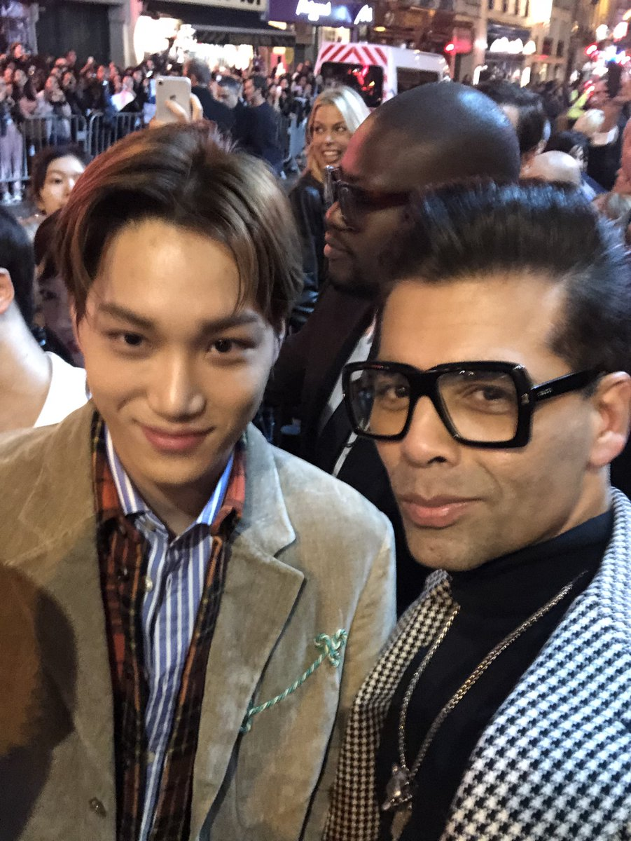 With the K-pop star #Kimjongin @weareoneEXO at the @Gucci show tonight!