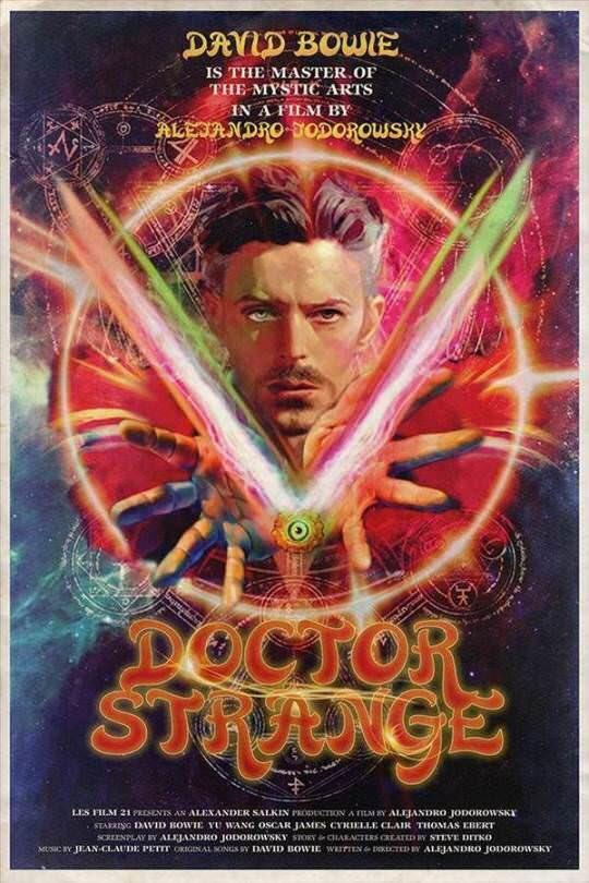 #drstrange #80s movie poster #Marvel #Bowie @headgeek666<br>http://pic.twitter.com/FcCNU2g9CB