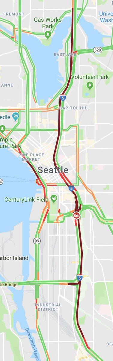 "WSDOT Traffic ar Twitter ""UPDATE All northbound I 5 lanes at I 90"
