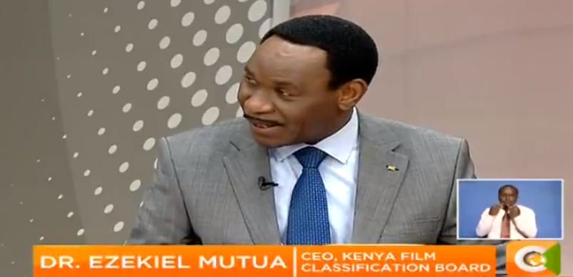 Dr Ezekiel Mutua: The court orders have been followed strictly. I have been to theaters where Rafiki is screening and the audience had to prove they are adults by showing their IDs #MondaySpecial