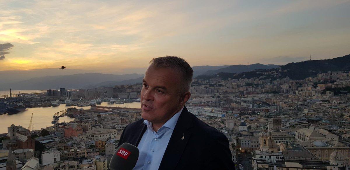 Ai microfoni della TV Svizzera @SRF ho spiegato le misure adottate dalla Regione Liguria per le imprese, a seguito del dramma del 14 agosto. #Genova e la #Liguria ripartono, anche dagli scorci che questa Regione sa regalare!   - Ukustom