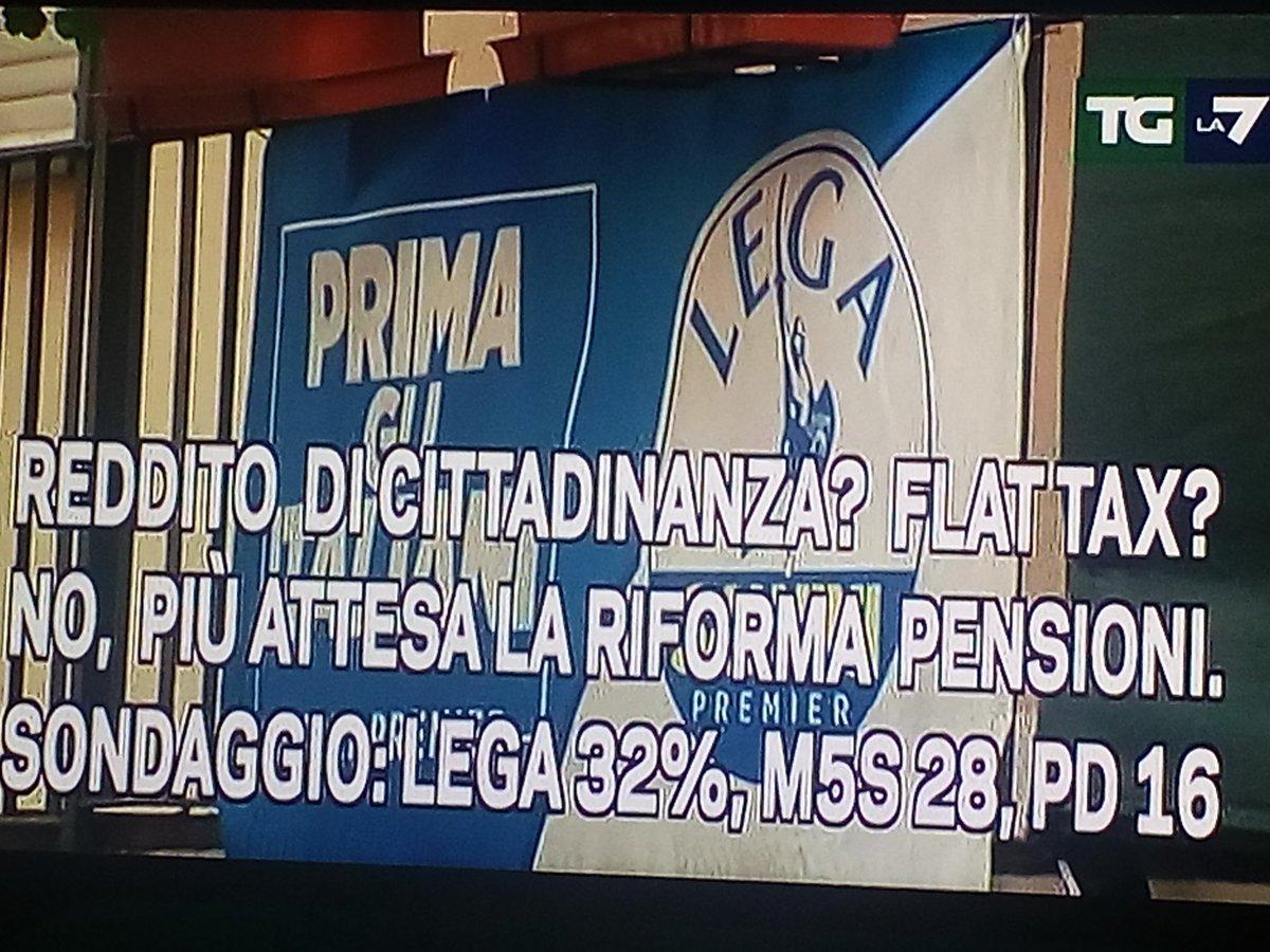 #LEGA 32%#M5S   28%#PD      16%#LA7 #REPUBBLICA #CORRIERE #RAIPD1 #RAIPD2 #RAIPD3...FATEVENE UNA RAGIONE !!!Dei vostri attacchi a reti unificate, ce ne fotte ZERO !!!#Salvini forever#DecretoSalvini Finalmente orgogliosi di essere #ITALIANI   - Ukustom
