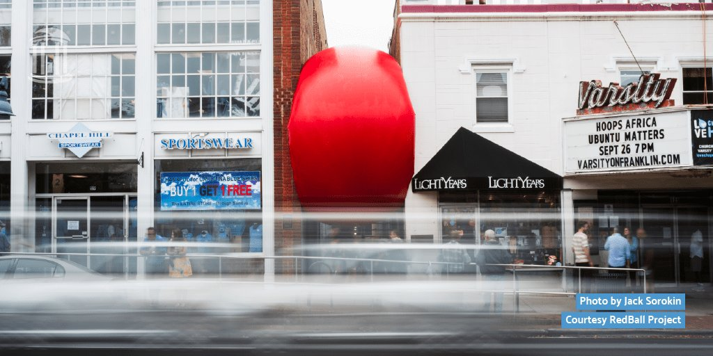 See the fun #RedBallProject brought to Carolina this weekend! Find out where else you can catch this 250-pound inflatable art before it's gone 🔴 https://t.co/EXdBQXso1R https://t.co/8Ldnuza7dD