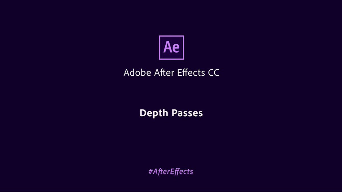 Access the depth data of native 3D elements directly within After Effects and easily composite an image layer to look as if it's a part of a 3D scene:  https:// adobe.ly/2Q3YBXQ  &nbsp;    #IBC2018   #AfterEffects<br>http://pic.twitter.com/spO4jk9kQv