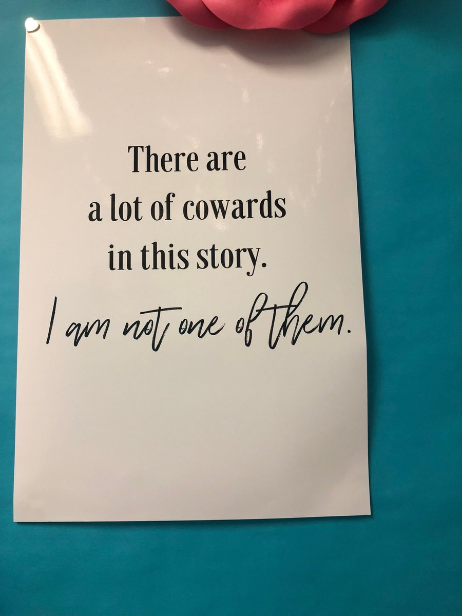 This is a poster hanging in my campaign office.  This powerful quote can be applied to many challenges but today, I dedicate it to all of the brave survivors, especially Christine.  #BelieveWomen #BelieveSurviviors #BelieveChristine <br>http://pic.twitter.com/9aihjlOZpm