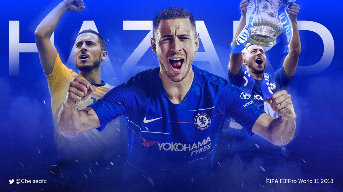 Joining his Chelsea team-mate in the FIFA FIFPro World 11 2018 is @hazardeden10! 👏   #FIFAFootballAwards