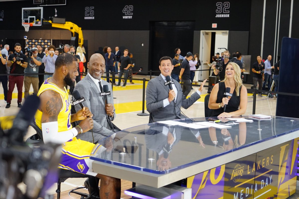 Spectrum Sportsnet On Twitter Tune In Now As Kingjames Sits With Our Access Sportsnet Lakers Crew Lakersmediaday