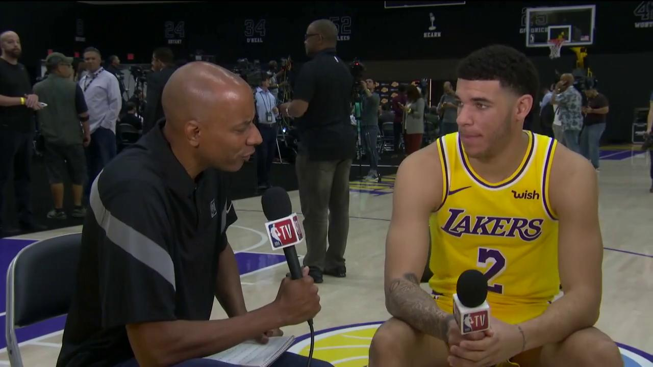 """It's kinda crazy that we're on the same team now.""  @ZO2_ on linking up with @KingJames  #NBAMediaDay https://t.co/XhjCCBS168"