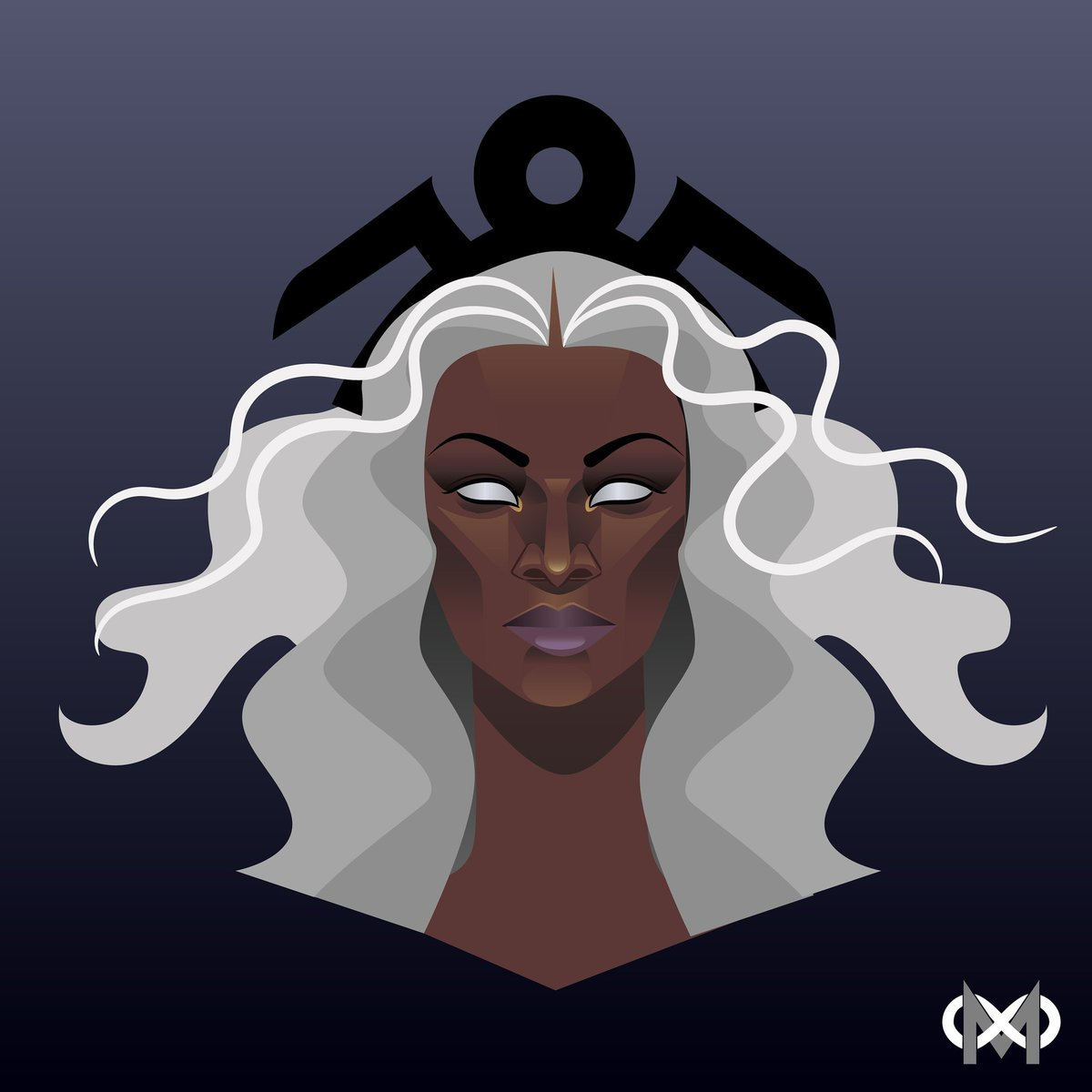 It&#39;s Yetide Badaki&#39;s birthday today! She plays #bilquis on @AmericanGodsSTZ and I just can&#39;t wait to see her in season 2!Coincidentally here is a drawing I made of her as another goddess. Happy birthday, @YetideBadaki !   #yetideforstormmcu #storm #mcu #vectorart #goddess #marvel<br>http://pic.twitter.com/ojEcXoXHFJ