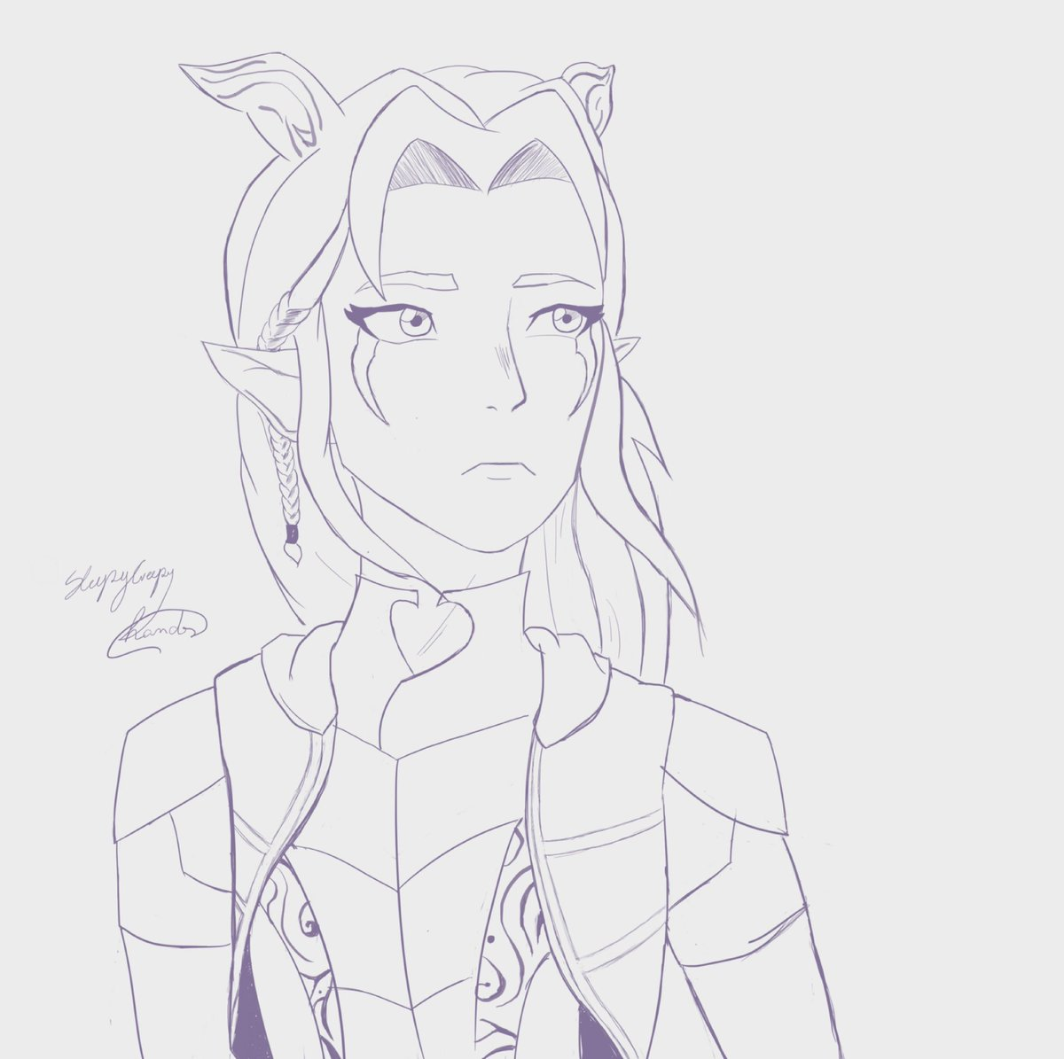 rayla lineart #TheDragonPrince #tdpart<br>http://pic.twitter.com/1ovtM47F1c