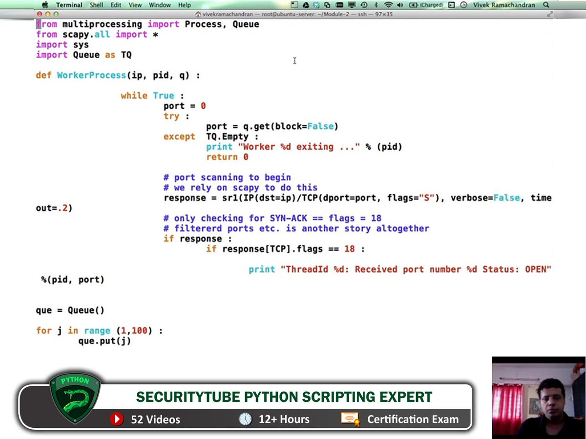 Pentester Academy Python Scripting Expert Master