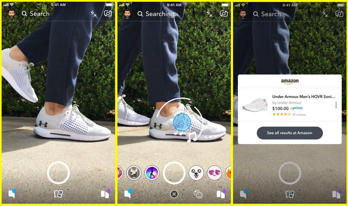 Snapchat testa ferramenta que permite usar a câmera do celular para fazer compras na Amazon https://t.co/uTDkf49Y0a #G1
