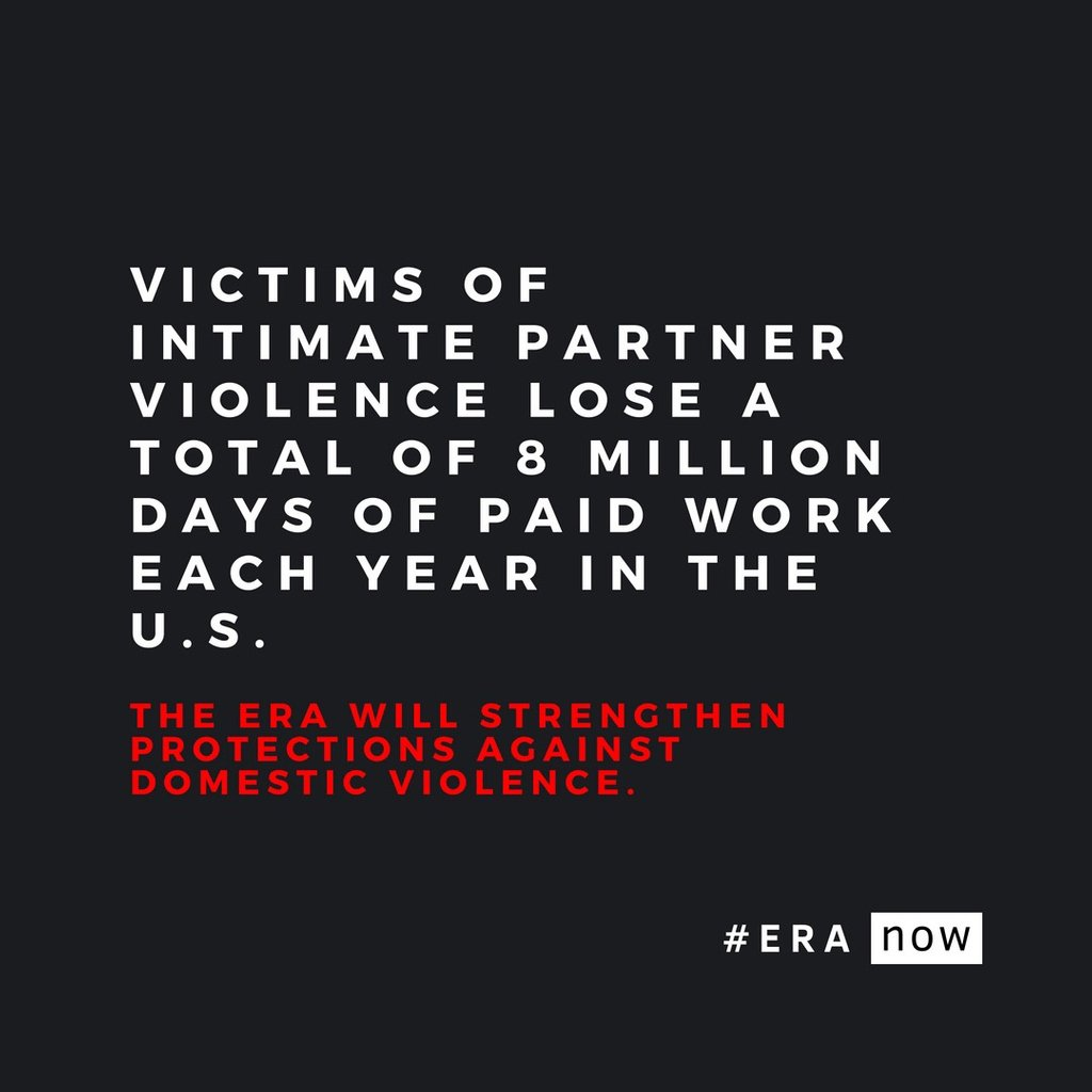 This must end. The ERA will strengthen protections against domestic violence. #ERAnow<br>http://pic.twitter.com/Apbw4wLzAU