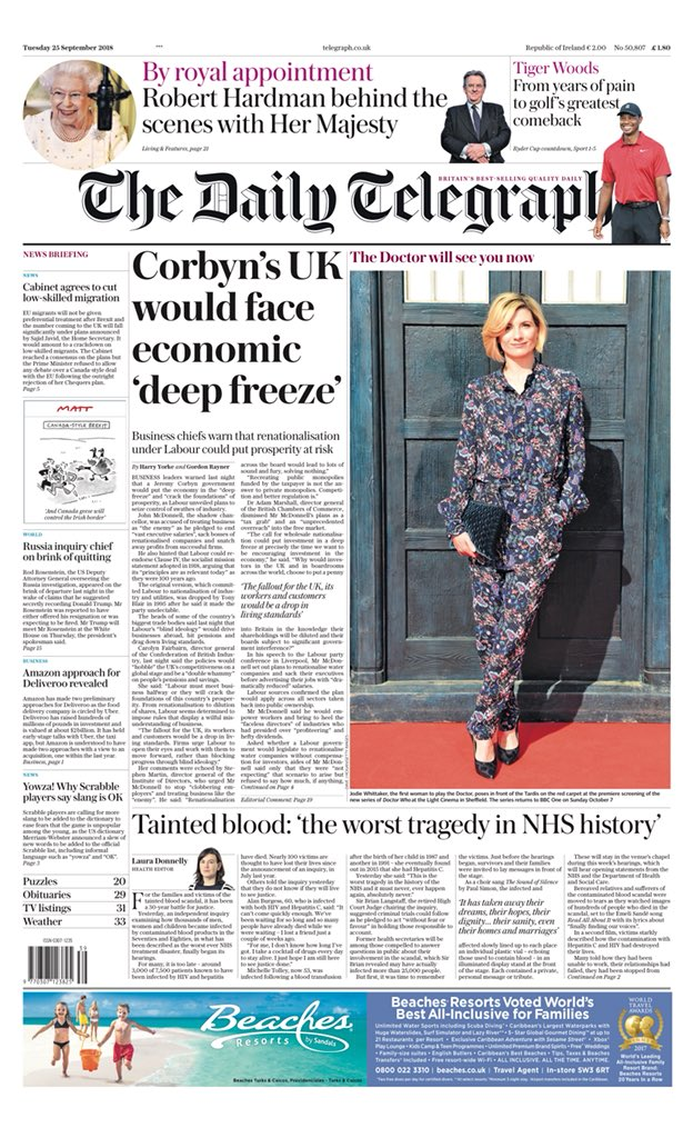 What Deep Freeze Of 2018 Revealed About >> Helen Miller On Twitter Tuesday S Telegraph Corbyn S Uk Would
