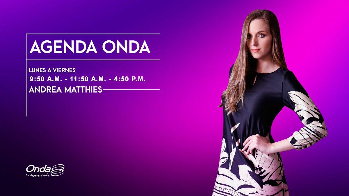 #AlAire #AgendaOnda con @AndreaMatthies con las mejores recomendaciones culturales #PonOnda