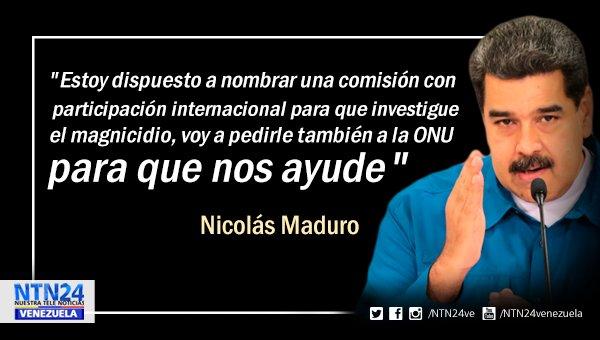 Maduro dispuesto a conformar comisión internacional que investigue atentado fallido https://t.co/lVga4jYfZv
