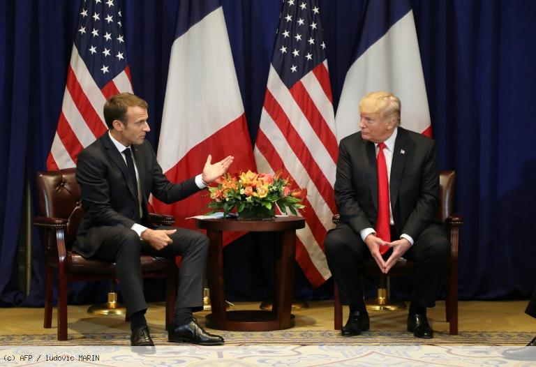 Macron et Trump cherchent à atténuer leurs divergences (Elysée) https://t.co/HtlyLdzZVR