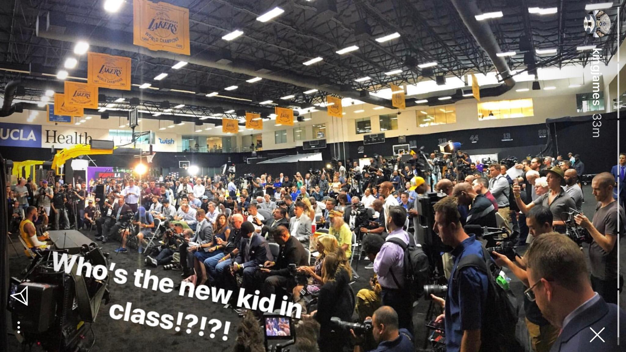 Anyone know who the new kid is? �� (via @KingJames) https://t.co/A1U8OYvKF1