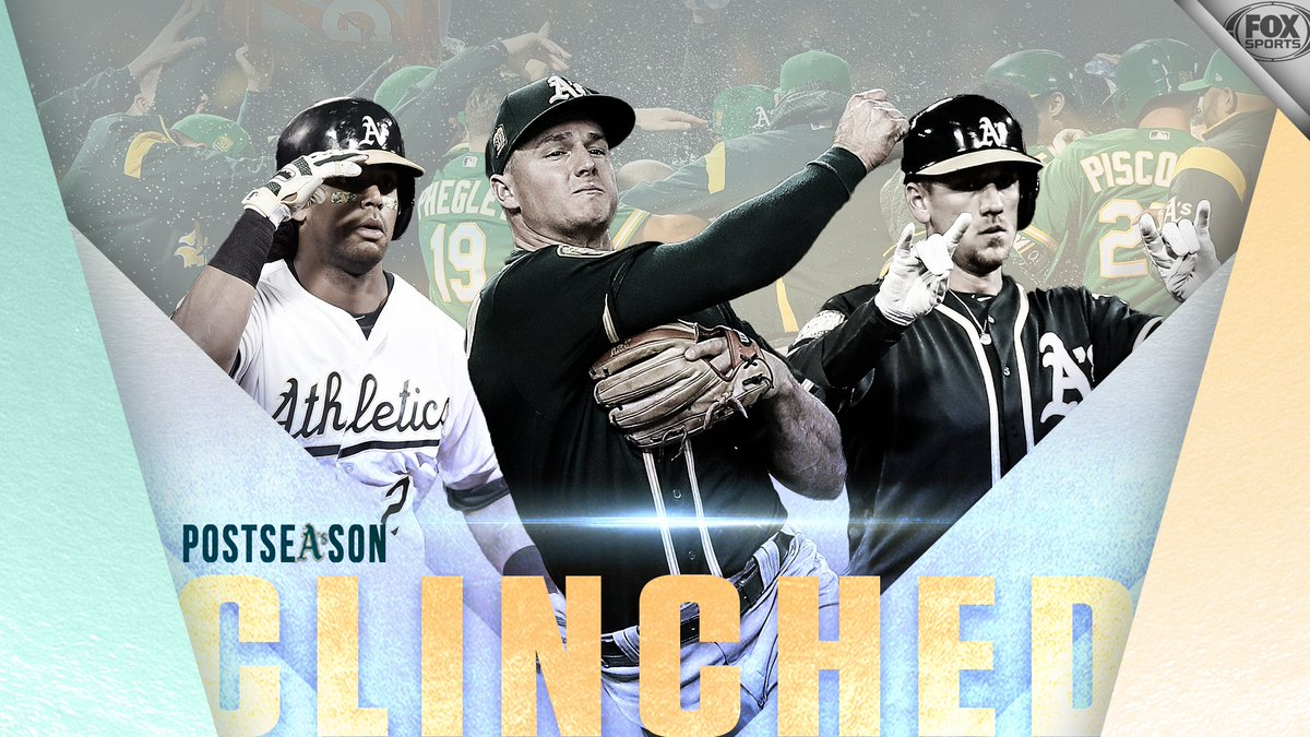 OAK-TOBER IS BACK!   For the first time since 2014, the @Athletics are going to the postseason!