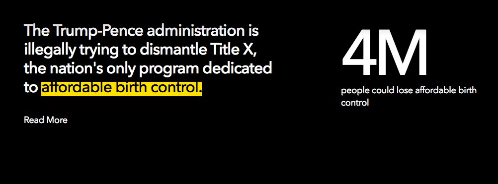 More than 4 million people rely on Title X for affordable birth control, but the administration is dramatically remaking the program.  Learn more on #TrackingTrump: https://t.co/aFAt7cr3C2
