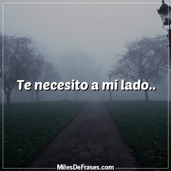 Frases En Imágenes Twitterissä Te Necesito A Mi Lado