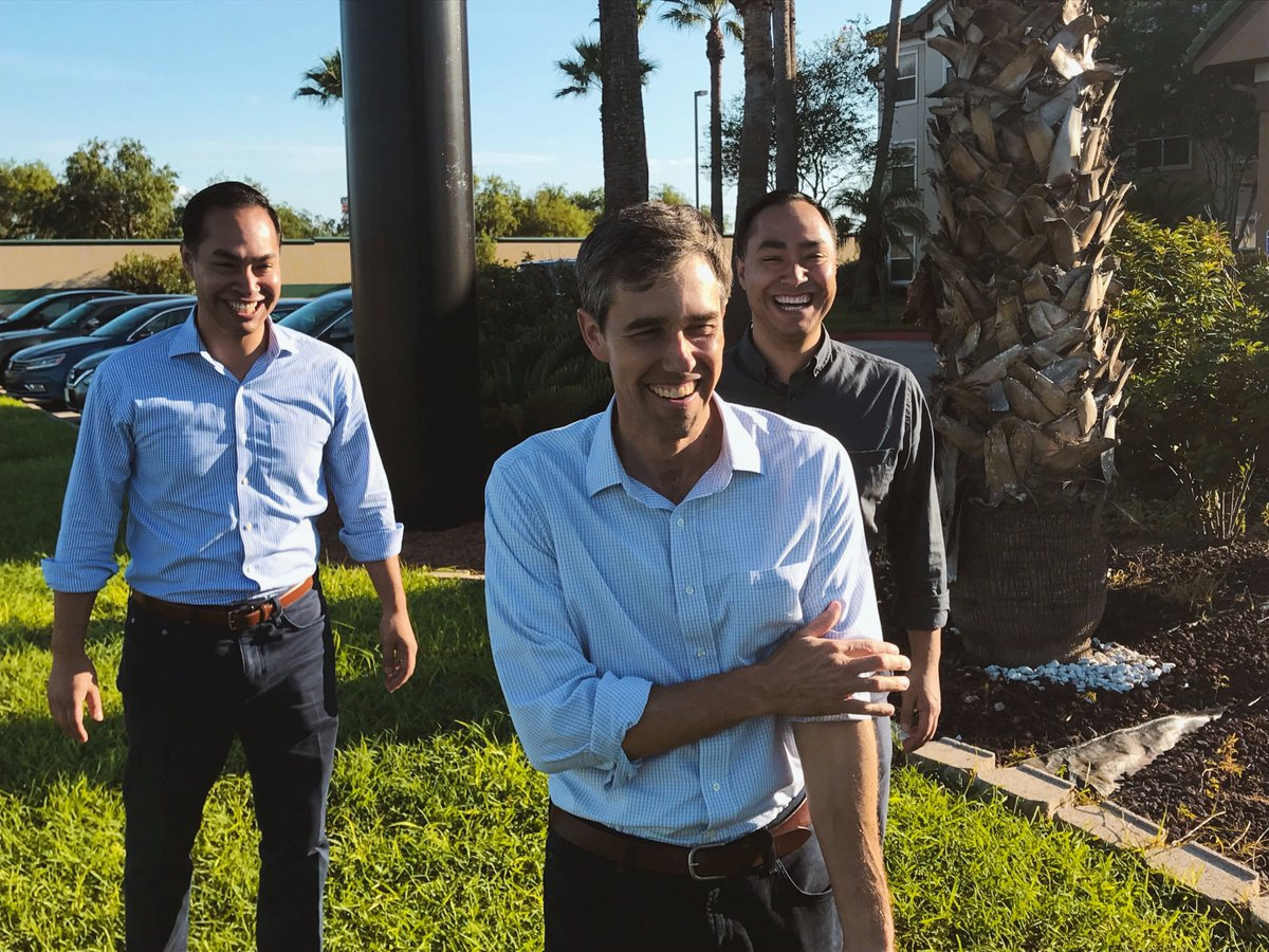 This weekend, @JulianCastro and I took a road trip with @BetoORourke across #Texas and met so many folks fired up to support Beto and his positive vision for our future. October 9th is the last day to get registered. Make it happen. Then let's turn out big in November! <br>http://pic.twitter.com/io9CJsCinp