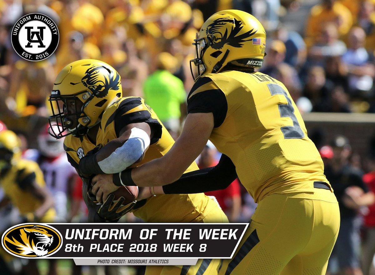 #UniAuthority Week 4 Uniform of the Week: 8. @MizzouFootball   #UAWeek4
