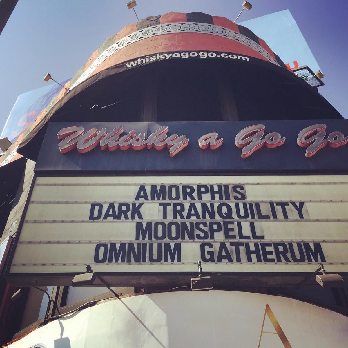 🇺🇸 Today's venue! #amorphis #queenoftimetour #darktranquillity #moonspell #omniumgatherum @TheWhiskyAGoGo https://t.co/iMafYYla3H