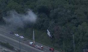 #ALERT: Crews responding to a brush fire near the Platt Bridge