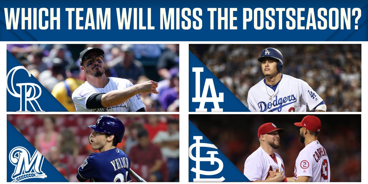 These four teams are still battling for a postseason spot. One will be left out.  Who will it be?