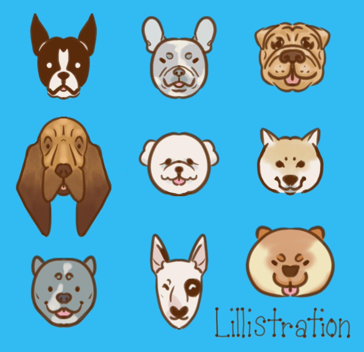 Some symmetrical dogs to match my symmetrical cats!! #dogs #dogsofinstagram #frenchbulldog #bullterrier #pitbull #chow #shibainu #bloodhound #bichonfrise #sharpei #bostonterrier #digitalart<br>http://pic.twitter.com/6dC23VOHHm