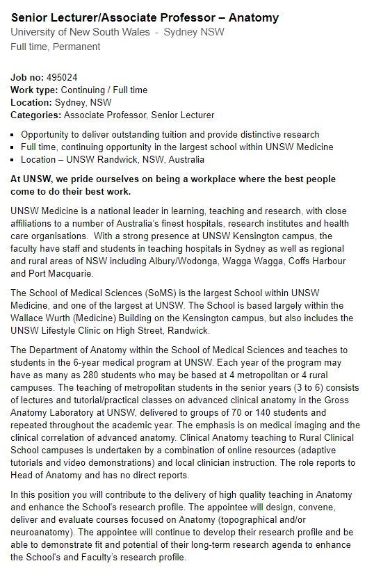 Australian Nz Association Of Clinical Anatomists Anzacainc