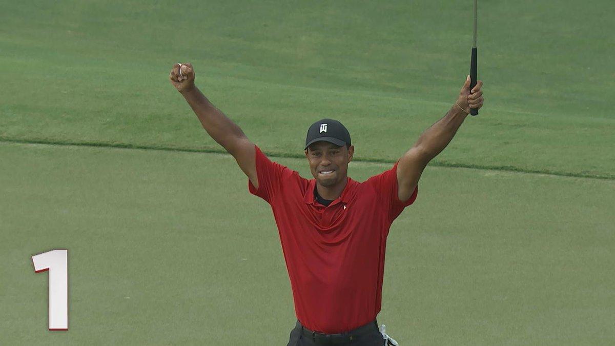 The top shots from @TigerWoods last week:  5. 🐦 4. 🦅 3. 🌲 2. 🏖 1. 🏆  #LiveUnderPar