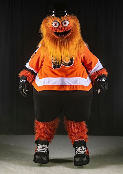 I'm still just in shock this is really the Flyers mascot. I really hope this a marketing stunt like IHOP and the burger switch. Except IHOP serving burgers doesn't give small children nightmares <br>http://pic.twitter.com/XFNNSDfwUB