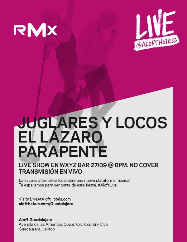 AloftLive Live   Aloft - 27 de septiembre en Guadalajara  http   goo.gl 9G97bh  aloftgdlpic.twitter.com Uq7oQATZhX ba967fd37ba19