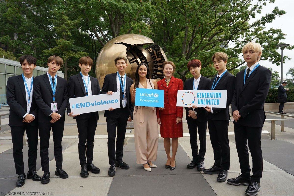 👏👏👏   &  have inspired millions through our  campaign. Today, they #ENDviolenceteamed up with  & world leaders to launch  - a new partnership to ensure every young person is in education, training or employment by 2030.  #UNGA