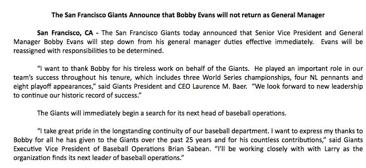The official release. #SFGIants