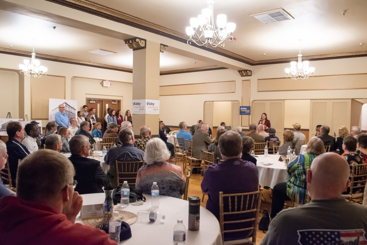 Thank you, former Congressman Dave Nagle and Deb Nagle, and everyone else who packed the house for us last night in Waterloo. It was an absolute honor to be with so many energetic supporters who are ready to #takeitback. Let&#39;s keep the momentum going! #IA01<br>http://pic.twitter.com/J1EyIDN5ze