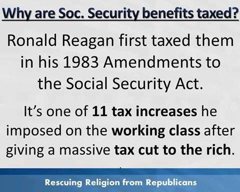 Ever wonder why your Social Security checks are taxed? <br>http://pic.twitter.com/WKQbE2qFJv