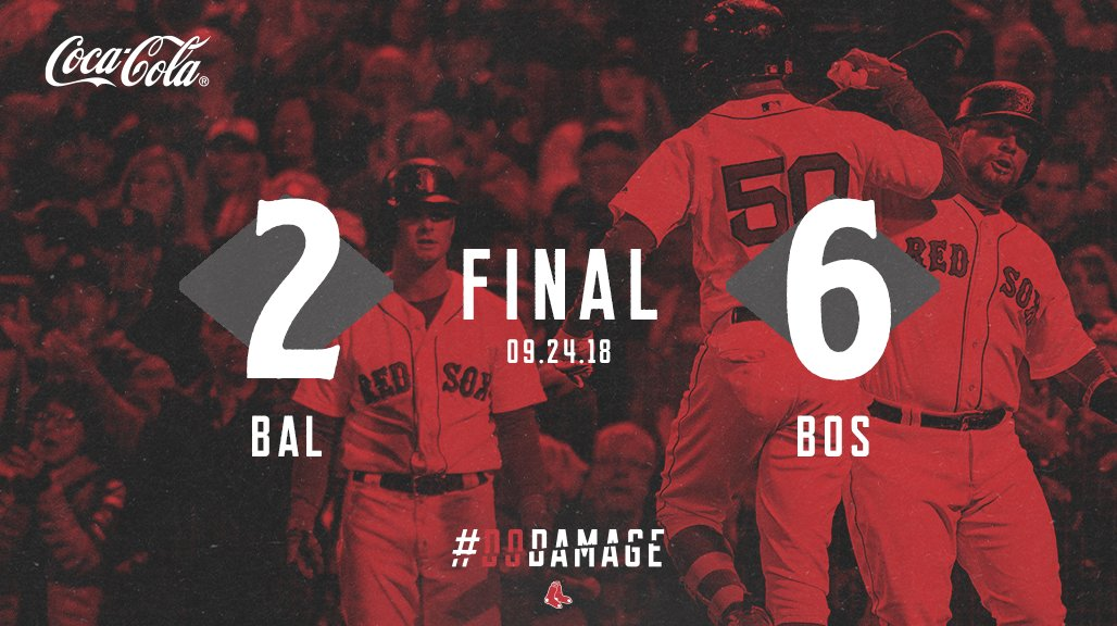 Clinching the #1 seed for postseason AND a new franchise record in wins? Great day to be a #RedSox fan 😉 #DirtyWater  🔗https://t.co/MCOLfUsyuc