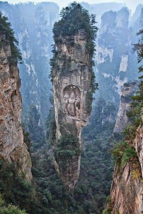 Buddha monastery and long mountain in China  <br>http://pic.twitter.com/1QhN8UAngc