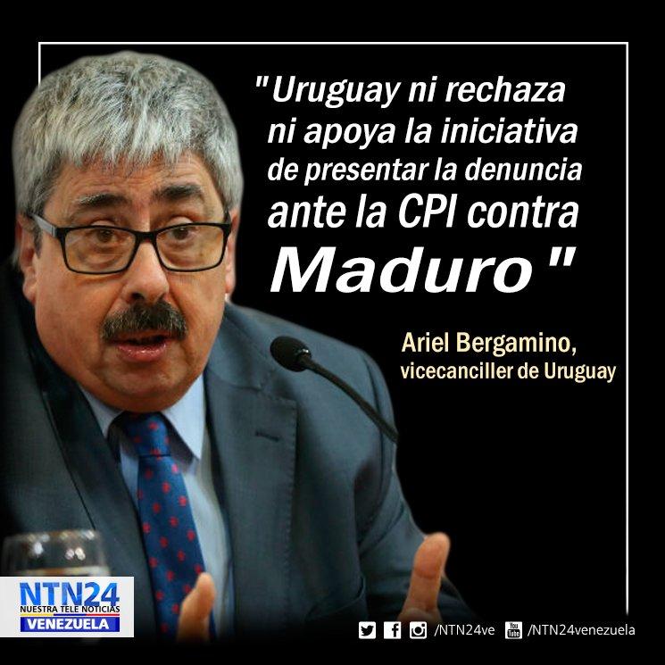 Uruguay no tiene claro que haya crímenes de lesa humanidad en Venezuela https://t.co/tc1BuCmc1z