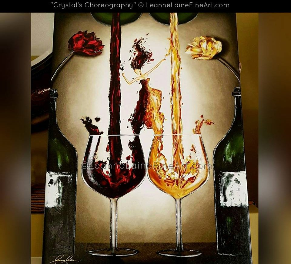 Client bought my #wine art Crystal&#39;s Choreography (find this art in many sizes;  http:// leannelainefineart.com/crystals-chore ography-2.html &nbsp; … ) #winetasting #wineoclock #travel #foodie <br>http://pic.twitter.com/TV3KN5HQaG