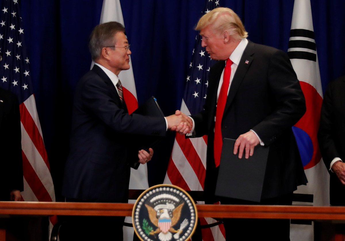 Южнокорейский лидер передал Трампу послание Ким Чен Ына https://t.co/7nKVKXINQa
