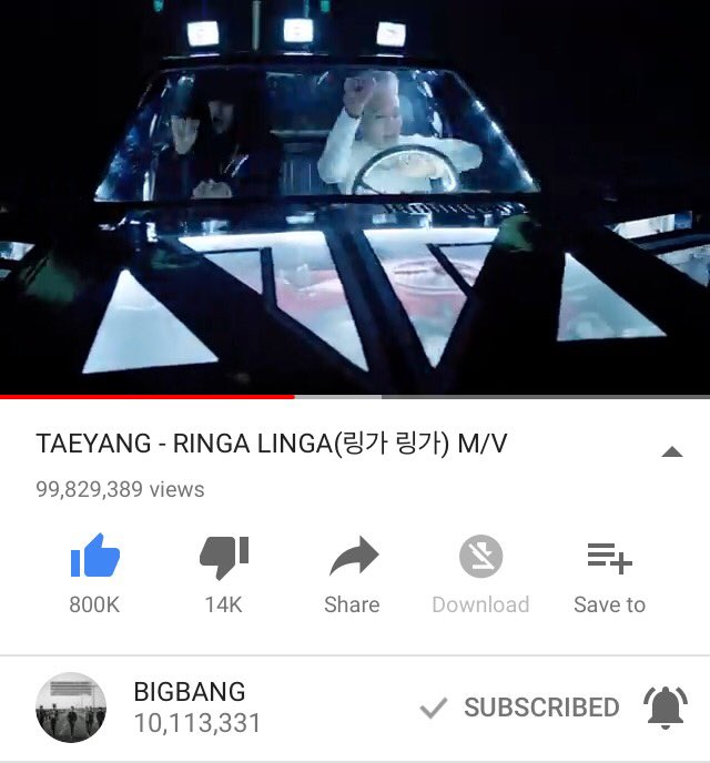 130K views needed for TAEYANG and GDRAGON&#39;s RINGA LINGA to reach 100M ! we&#39;ll get another POSTER soon  <br>http://pic.twitter.com/vlfhRL5pyu